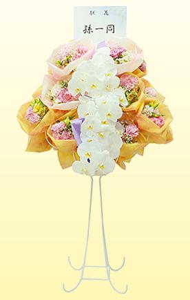 胡蝶蘭入りアレンジブーケフラワーの写真